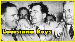 still, black & white image of Senator Huey Long from the documentary 'Louisiana Boys'